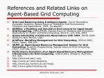 references and related links on agent based grid computing