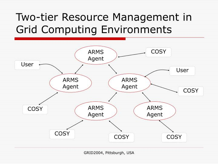 Two tier resource management in grid computing environments