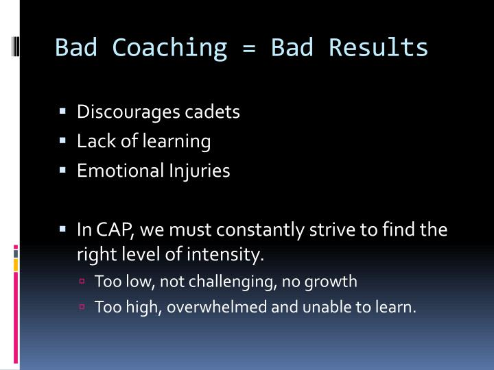 Bad Coaching = Bad Results