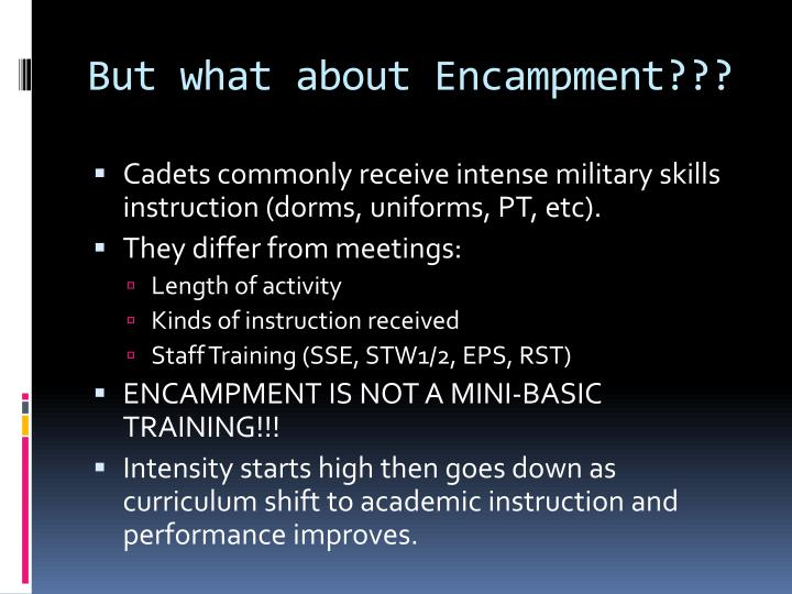 But what about Encampment???