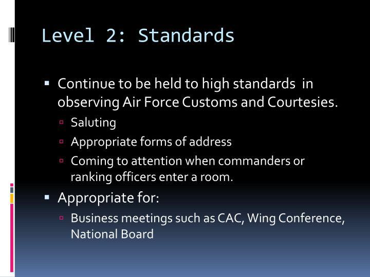 Level 2: Standards