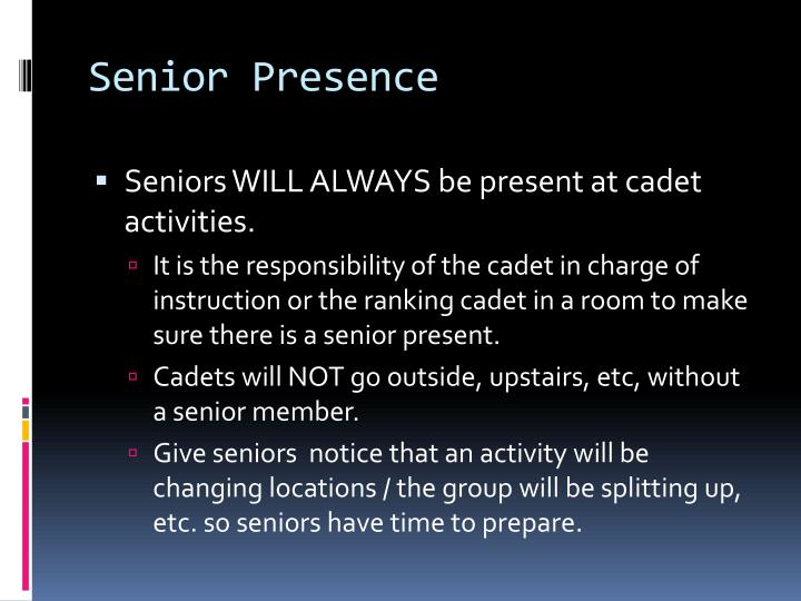 Senior Presence