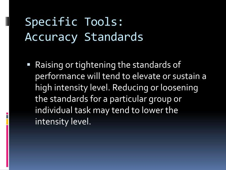 Specific Tools: