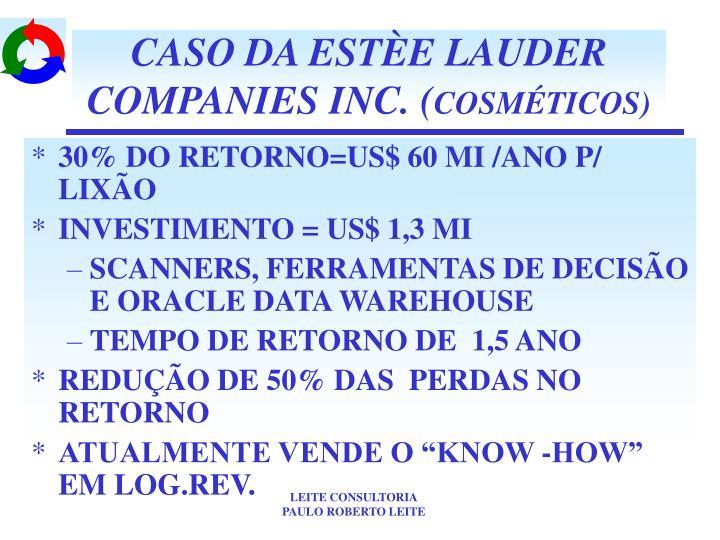 CASO DA ESTÈE LAUDER COMPANIES INC. (