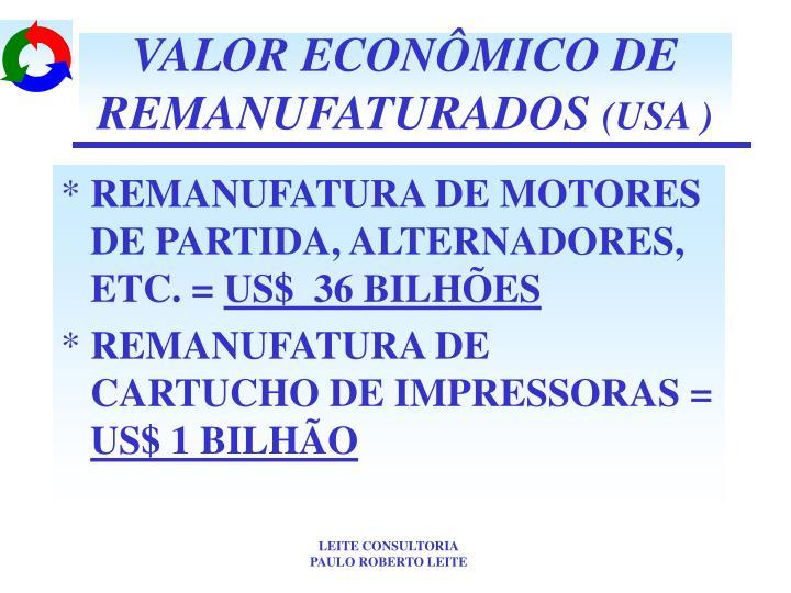VALOR ECONÔMICO DE