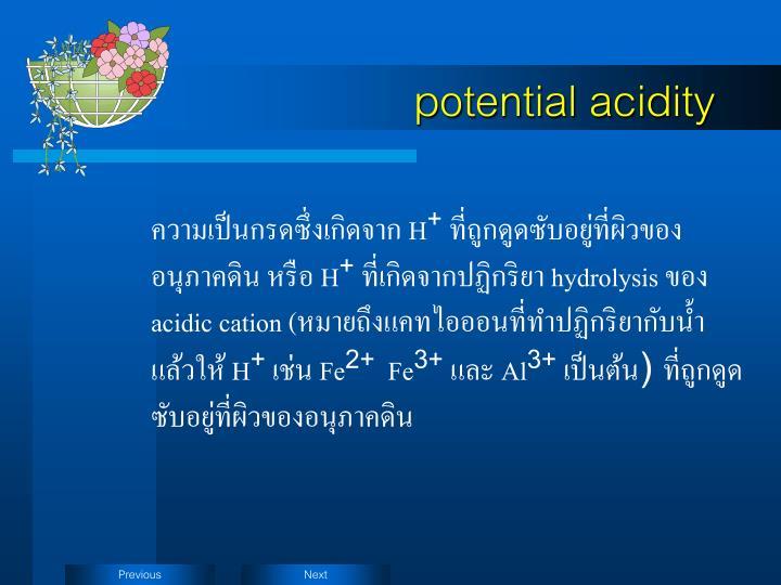 potential acidity