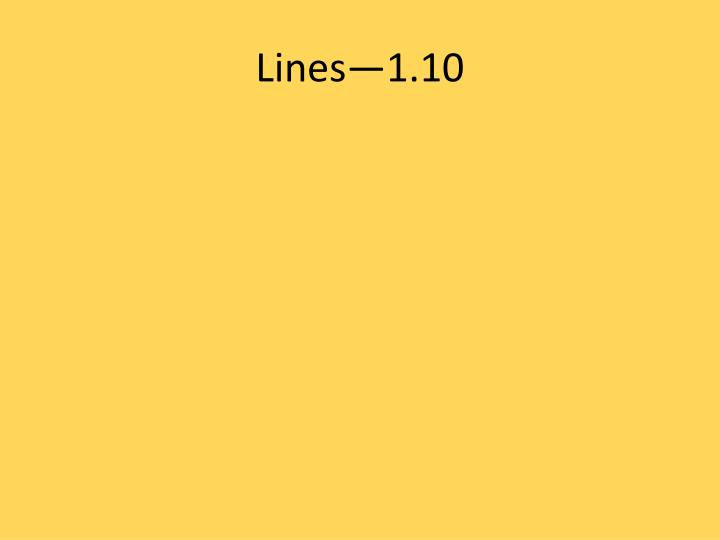 Lines—1.10