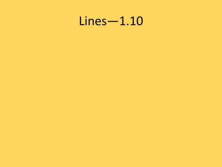 Lines—1.10