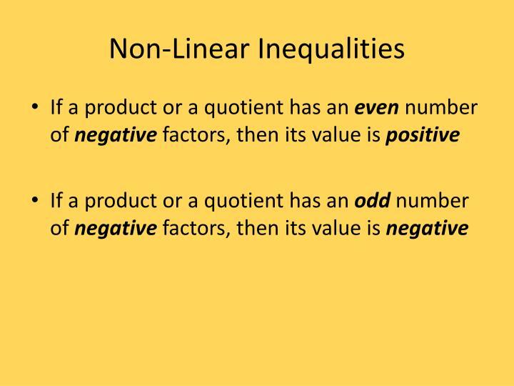 Non-Linear Inequalities