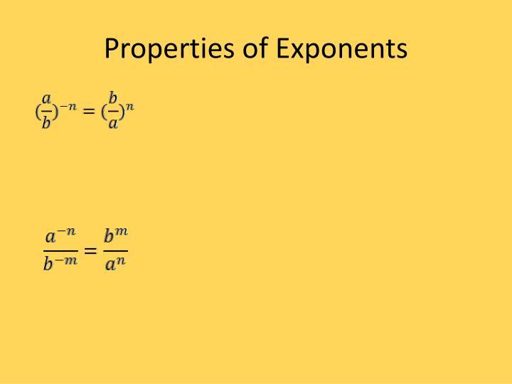 Properties of Exponents