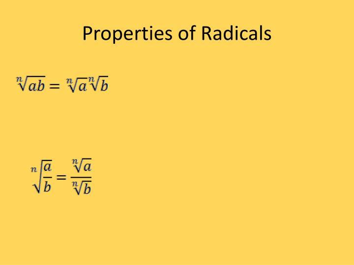 Properties of Radicals