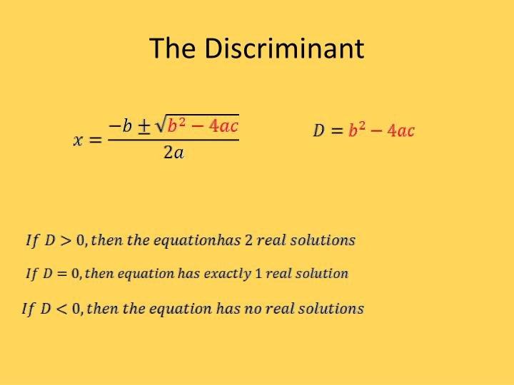 The Discriminant