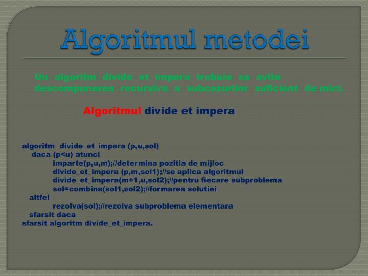 Algoritmul
