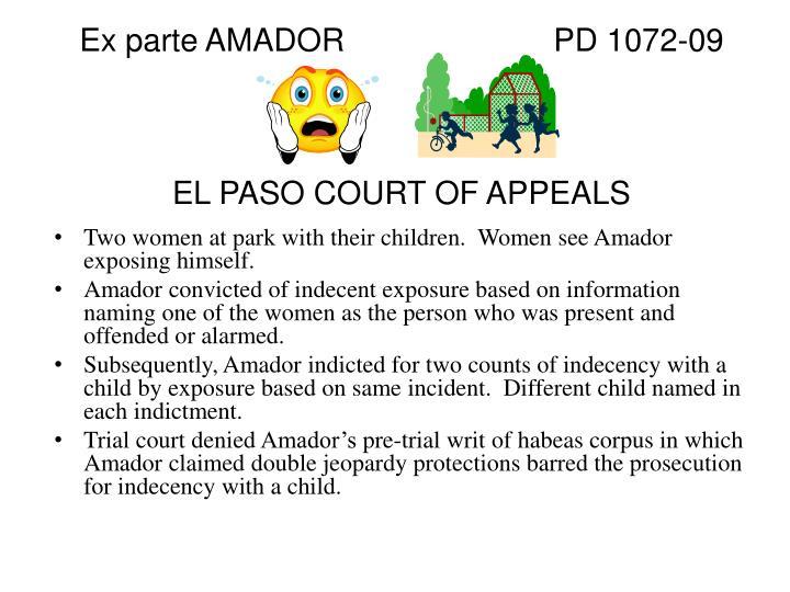 Ex parte AMADORPD 1072-09