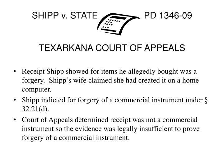 SHIPP v. STATEPD 1346-09