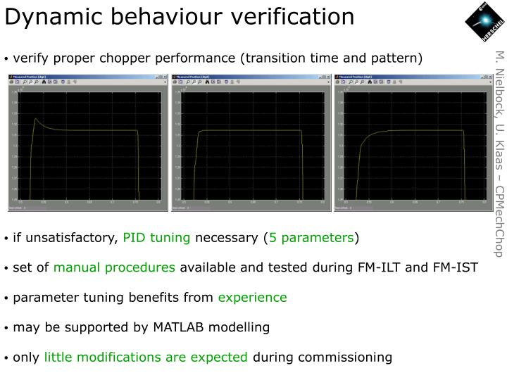 Dynamic behaviour verification