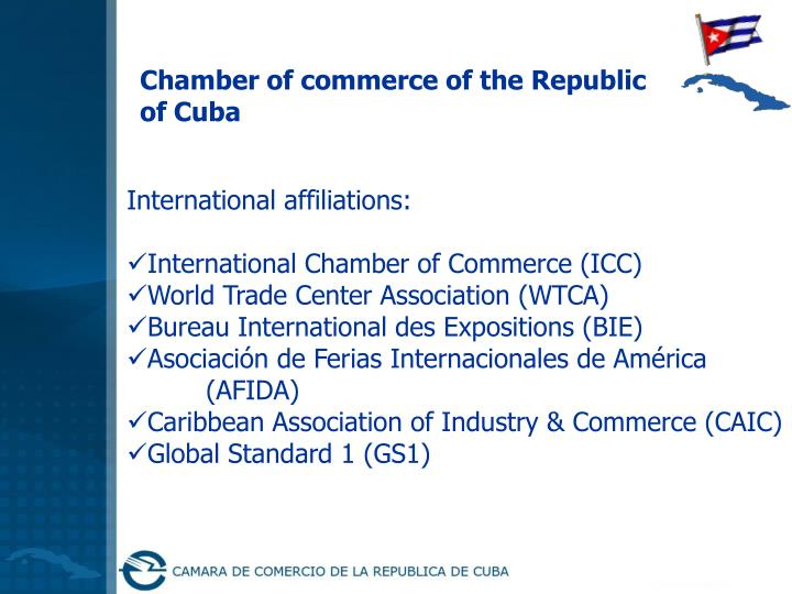 Chamber of commerce of the Republic of Cuba