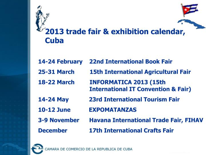 2013 trade fair & exhibition calendar,