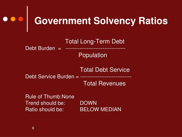 Government Solvency Ratios