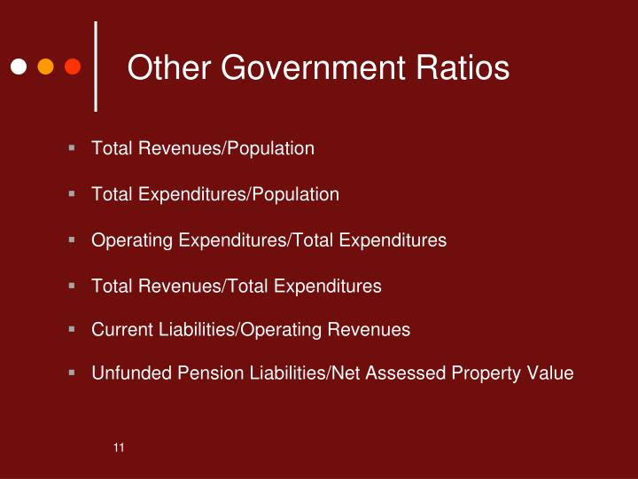 Other Government Ratios