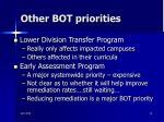 other bot priorities