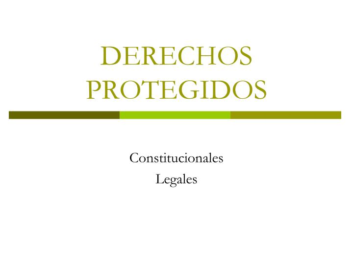 DERECHOS PROTEGIDOS
