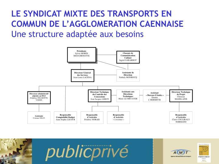 LE SYNDICAT MIXTE DES TRANSPORTS EN COMMUN DE L'AGGLOMERATION CAENNAISE