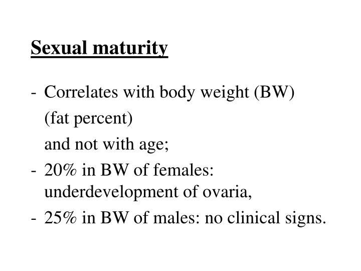Sexual maturity