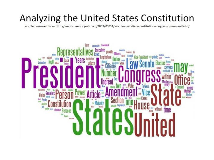 Analyzing the United States Constitution
