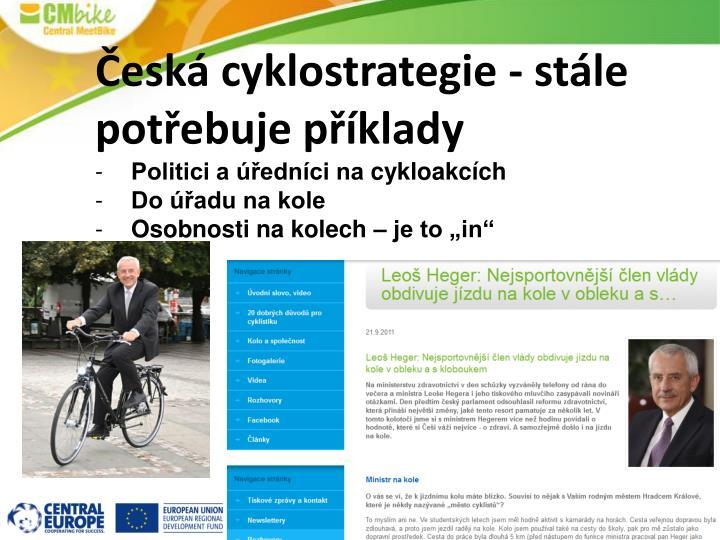 Česká cyklostrategie - stále potřebuje příklady