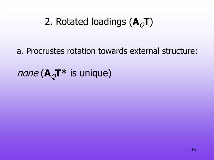 2. Rotated loadings