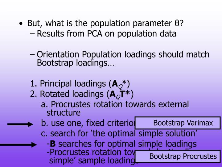 But, what is the population parameter θ?