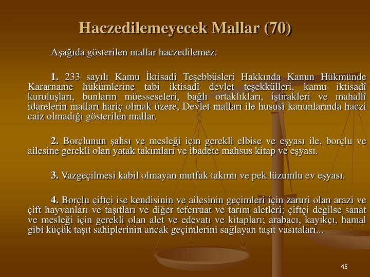 Haczedilemeyecek Mallar (70)