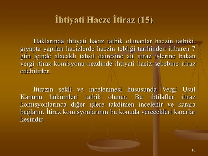 İhtiyati Hacze İtiraz (15)