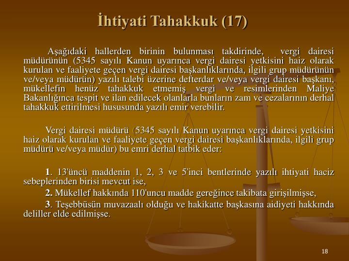 İhtiyati Tahakkuk (17)
