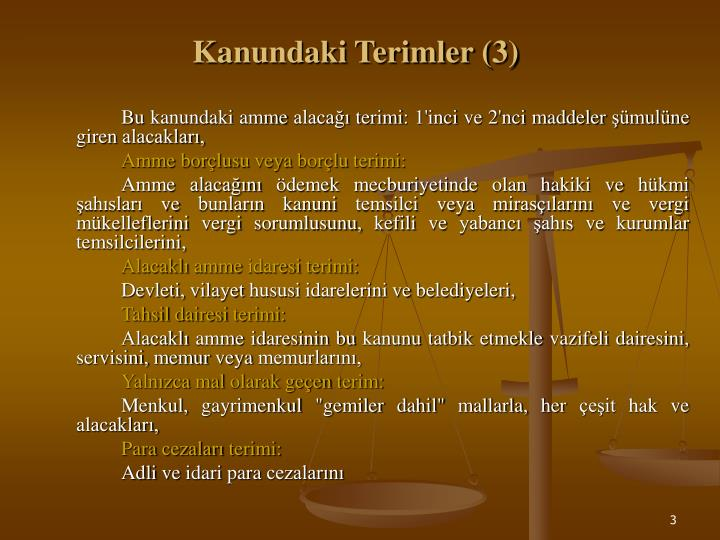 Kanundaki Terimler (3)