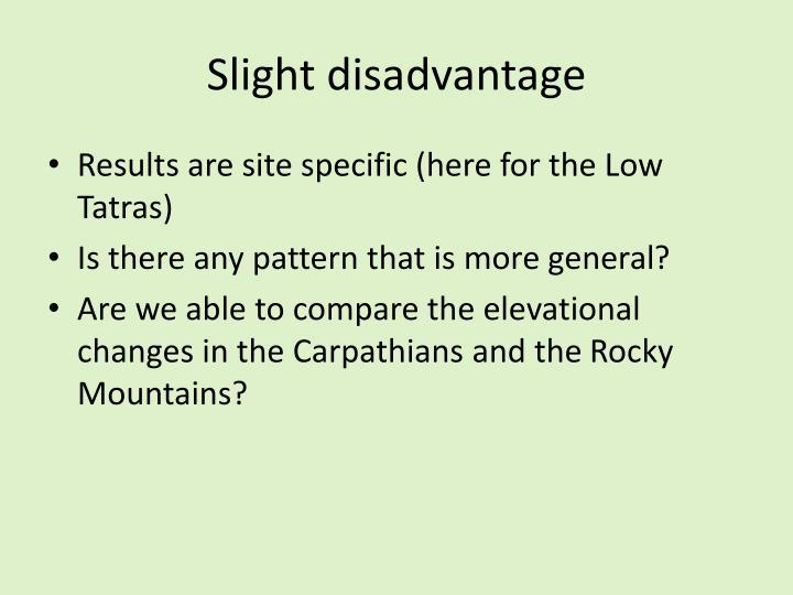 Slight disadvantage