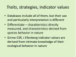 traits strategie s indicator values