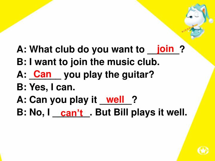 A:Whatclubdoyouwantto ______?