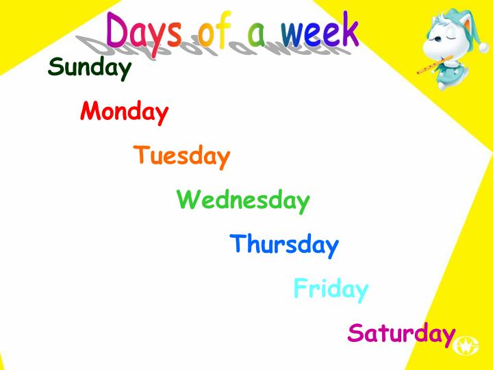 Days of a week