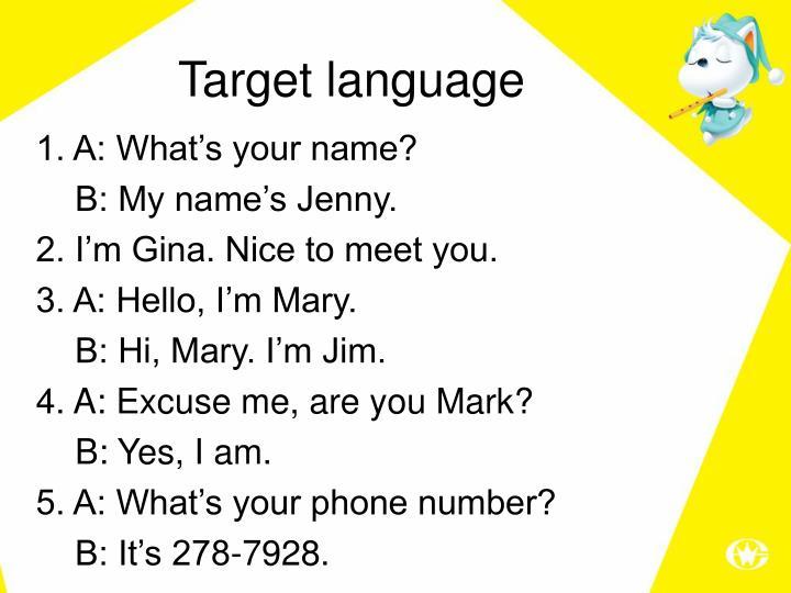 Target language