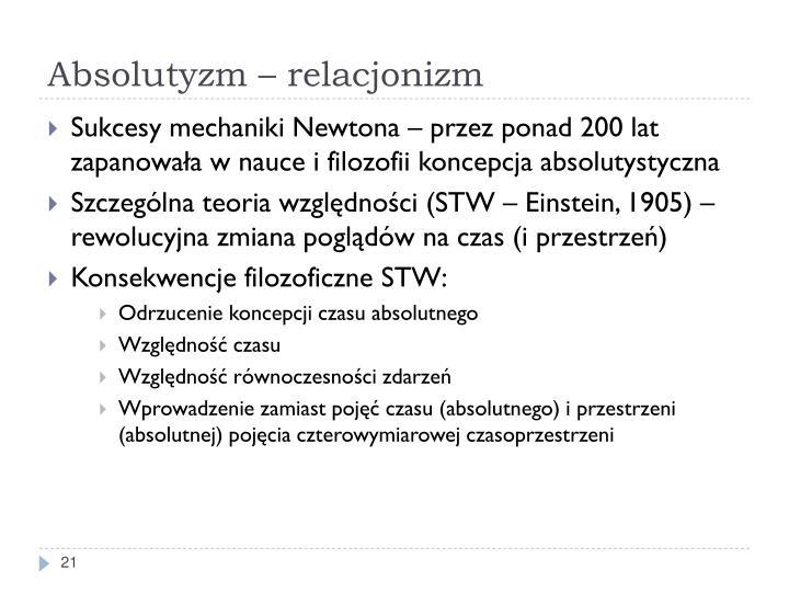 Absolutyzm – relacjonizm