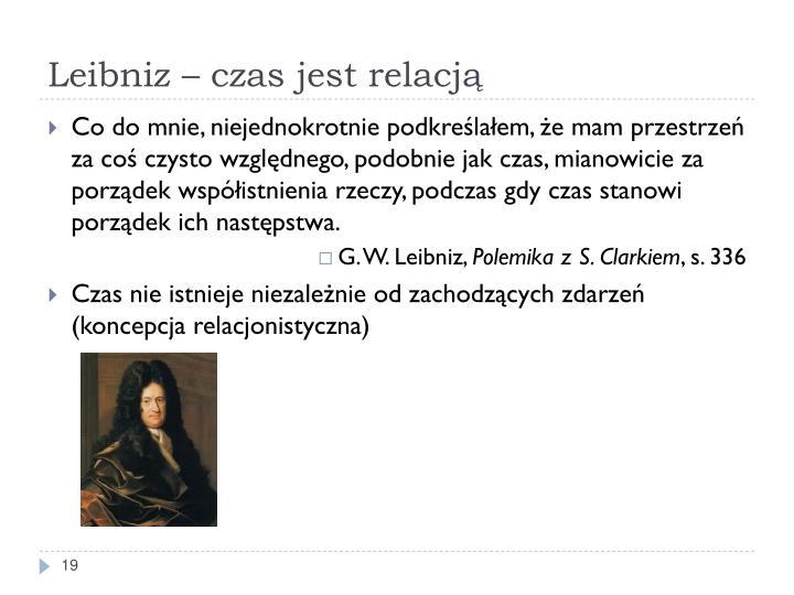 Leibniz – czas jest relacją