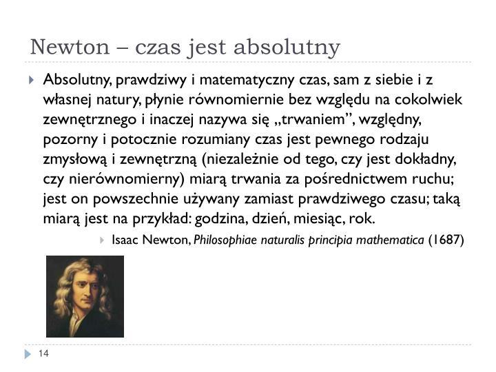 Newton – czas jest absolutny