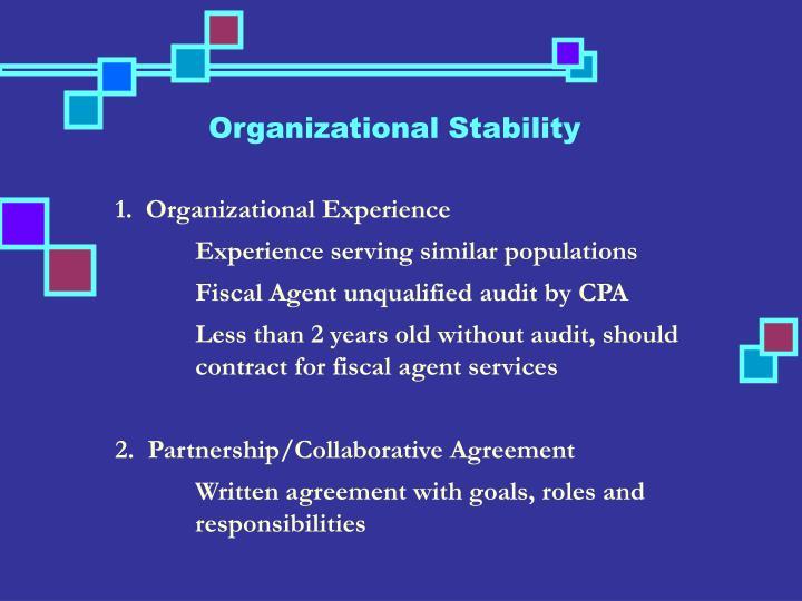 Organizational Stability