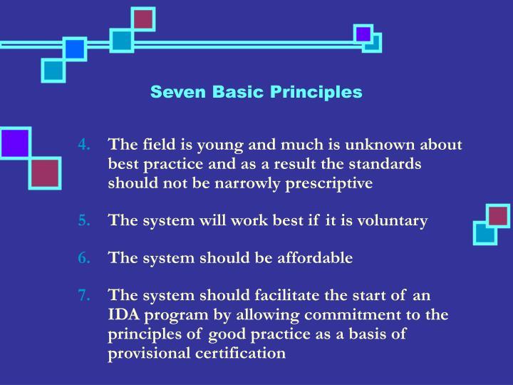 Seven Basic Principles