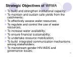 strategic objectives of wrma