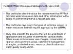 the draft water resources management rules ctd