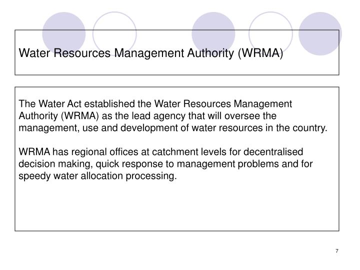 Water Resources Management Authority (WRMA)