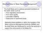 why draft rules for water resources management